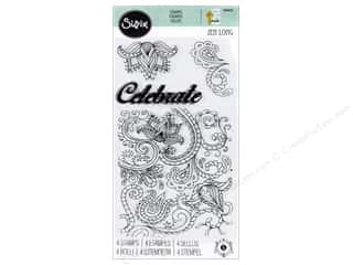 dies: Sizzix Stamp Jen Long Clear Celebrate Flowers