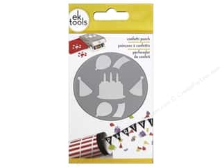 EK Paper Shapers Large Punch Confetti Birthday 1 in.