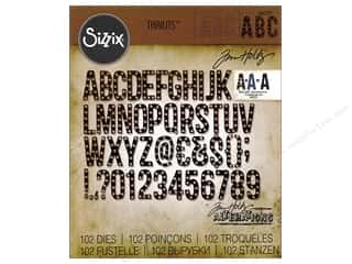 die cuts: Sizzix Thinlits Die Set 102 pc. Alphanumeric Marquee