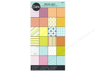 "patterned paper: Sizzix Accessories Paper Pad 6""x 12"" Basic"