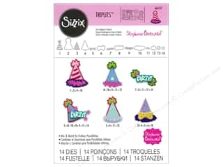 die cuts: Sizzix Triplits Dies Party Hats by Stephanie Barnard