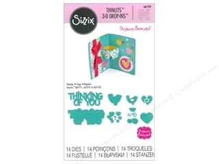 sentiment dies: Sizzix Thinlits Die Set 14 pc. Thinking of You 3-D Drop-ins Sentiment
