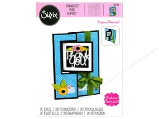 die cutting machines: Sizzix Framelits Plus Die Set 20 pc. Square Flip-its Card