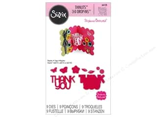 sentiment dies: Sizzix Thinlits Die Set 9 pc. Thank You 3-D Drop-ins Sentiment