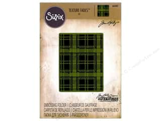embossing folders: Sizzix Texture Fades Embossing Folders 1 pc. Plaid