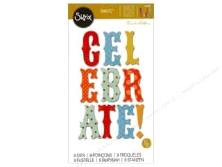 die cuts: Sizzix Thinlits Die Set 9 pc. Celebrate Phrase