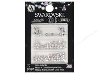 beading & jewelry making supplies: Cousin Swarovski Hotfix Rhinestones 72 pc. Mix Aurora Borealis