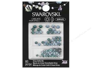Cousin Swarovski Hotfix Rhinestones 80 pc. Mix Aquamarine/Blue Zircon