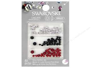 Swarovski crystals: Cousin Swarovski Xirius Flatback Rhinestone Mix 80 pc. Red White Black