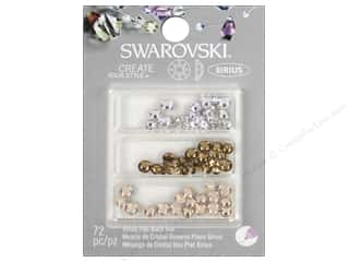 beading & jewelry making supplies: Cousin Swarovski Xirius Flatback Rhinestone Mix 72 pc. Wedding B