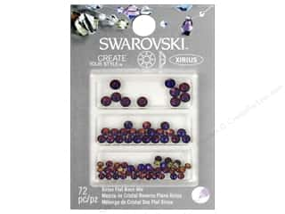 beading & jewelry making supplies: Cousin Swarovski Xirius Flatback Rhinestone Mix 72 pc. Volcano