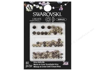 Cousin Swarovski Hotfix Rhinestones 80 pc. Mix Light Smoke/Topaz