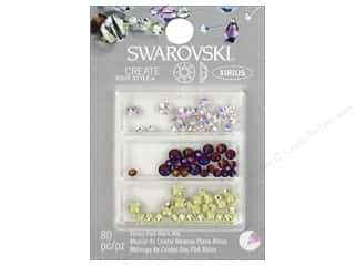 beading & jewelry making supplies: Cousin Swarovski Xirius Flatback Rhinestone Mix 80 pc. Luminous