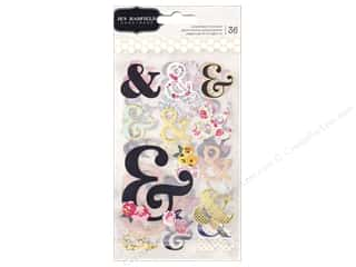 Pebbles Collection Jen Hadfield Everyday Sticker Ampersand Gold Foil