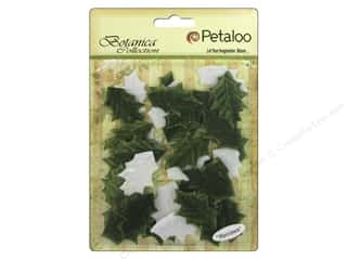 Petaloo Botanica Collection Holiday Velvet Holly Leaves