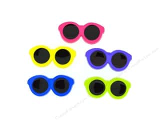 scrapbooking & paper crafts: Jesse James Dress It Up Embellishments Button Fun Sunglasses