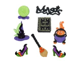 craft & hobbies: Jesse James Dress It Up Embellishments Halloween Witches Spell