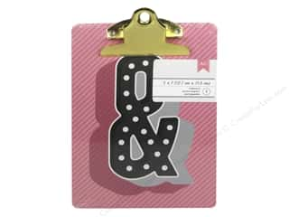 American Crafts Clipboard Mini Ampersand Pink & Black