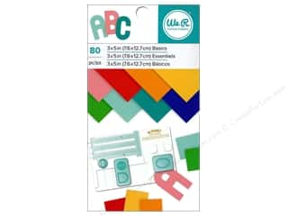 "cardstock: We R Memory Paper Pad 3""x 5"" Basics 80pc"