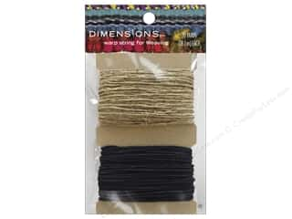 Twine: Dimensions Tools Weaving Warp String Black/Natural