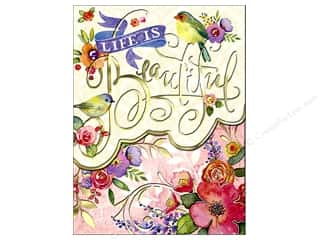 Clearance Punch Studio Decorative Magnet: Punch Studio Pocket Note Pad Words of Wisdom Beautiful Florals