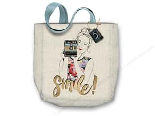 "Molly & Rex Bag Canvas Tote 15""x 16"" Camera Girl"