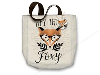 "Molly & Rex Bag Canvas Tote 15""x 16"" Hey There Foxy"