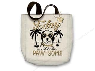 "Molly & Rex Bag Canvas Tote 15""x 16"" Pawsome Dog"
