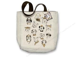 "Molly & Rex Bag Canvas Tote 15""x 16"" Puppy Portraits"