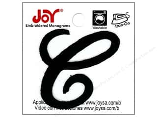 "Joy Lettershop Iron-On Embroidered Letter 1 1/2 in. Script ""C"" Black"