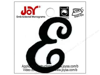 "Joy Lettershop Iron-On Embroidered Letter 1 1/2 in. Script ""E"" Black"