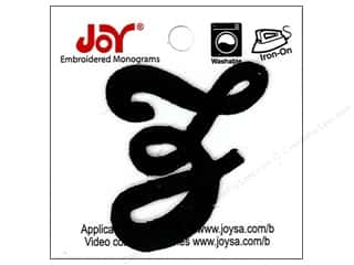"Joy Lettershop Iron-On Embroidered Letter 1 1/2 in. Script ""Z"" Black"