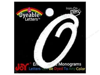 "Joy Lettershop Iron-On Embroidered Letter 1 1/2 in. Script ""O"" Dyeable"