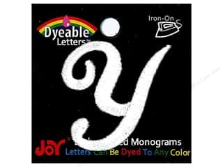 "Joy Lettershop Iron-On Embroidered Letter 1 1/2 in. Script ""Y"" Dyeable"