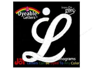 "Joy Lettershop Iron-On Embroidered Letter 1 1/2 in. Script ""L"" Dyeable"