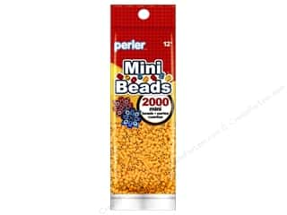 perler: Perler Mini Beads 2000 pc. Cheddar