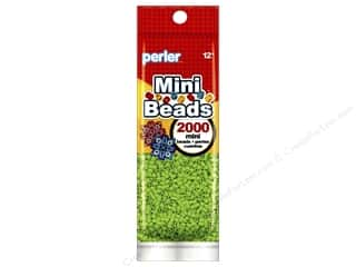 beading & jewelry making supplies: Perler Mini Beads 2000 pc. Kiwi Lime