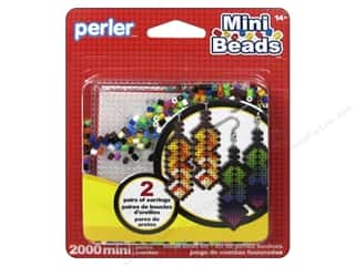 beading & jewelry making supplies: Perler Fused Bead Kit Mini Earrings 2000pc