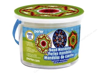 beading & jewelry making supplies: Perler Fused Bead Kit Bucket Mandalas 5500pc