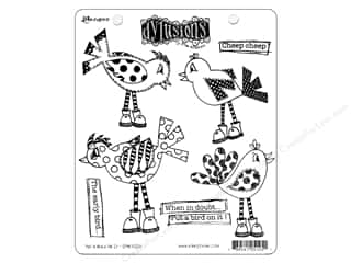 Holiday Sale Stampendous Cling Rubber Stamp: Ranger Stamp Dylusions Cling Put A Bird On It