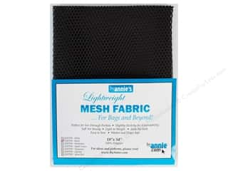 fabric: By Annie Lightweight Mesh Fabric 18 x 54 in. Black