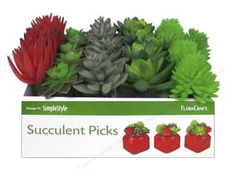 Floracraft SimpleStyle Succulent Pick X Small PDQ (25 pieces)