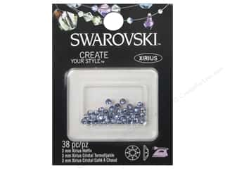 Cousin Swarovski Hotfix 3mm Light Sapphire 38pc