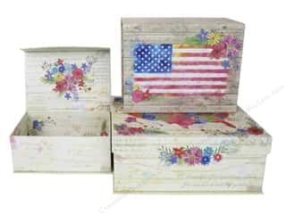 sewing & quilting: Punch Studio Box Nesting Medium American Beauty Set/3