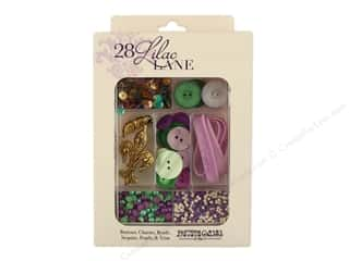 craft & hobbies: Buttons Galore 28 Lilac Lane Embellishment Kit French Quarter