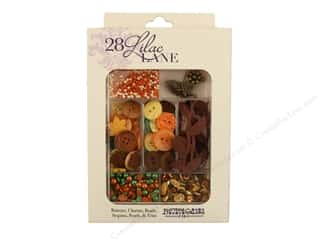 craft & hobbies: Buttons Galore 28 Lilac Lane Embellishment Kit Autumn Afternoon