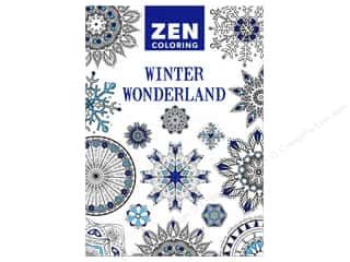 books & patterns: Guild of Master Craftsman Zen Coloring Winter Wonderland Book