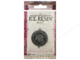 beading & jewelry making supplies: Ranger ICE Resin Milan Bezels 1 pc. Medium Circle Antique Silver
