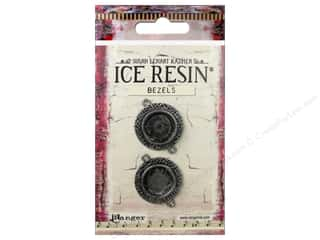 Ranger ICE Resin Milan Bezels 2 pc. Small Circle Antique Silver