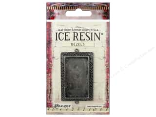 beading & jewelry making supplies: Ranger ICE Resin Milan Bezels 1 pc. Large Rectangle Antique Silver